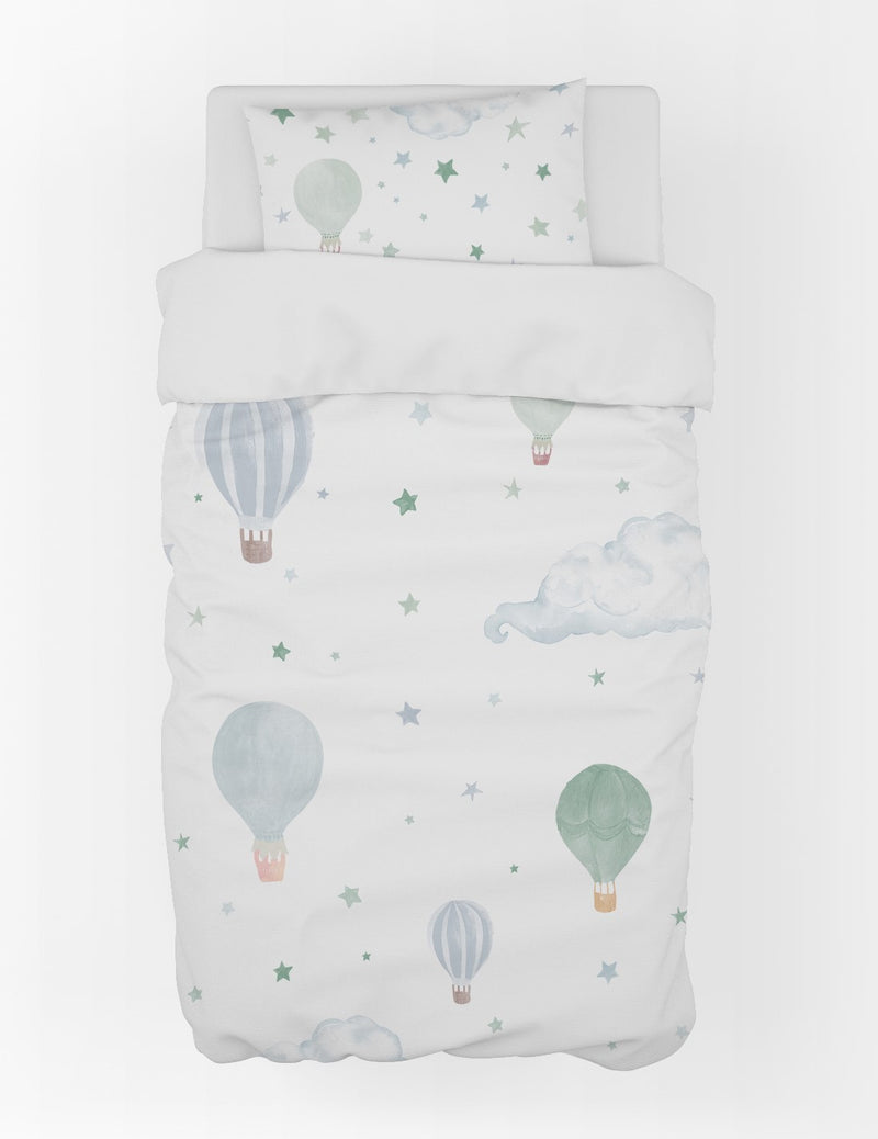 Hot Air Balloons Duvet Cover & Pillow Case