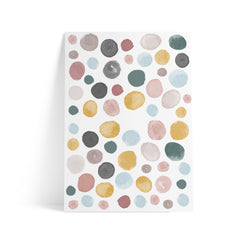 Watercolor Polka Dots Colorful