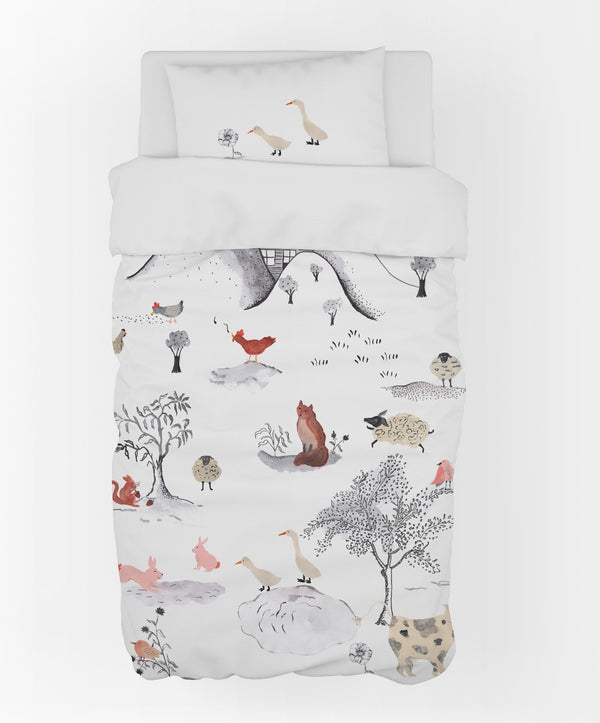 Country Life Duvet Cover & Pillow Case