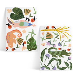 Tropical Forest Sticker Duo