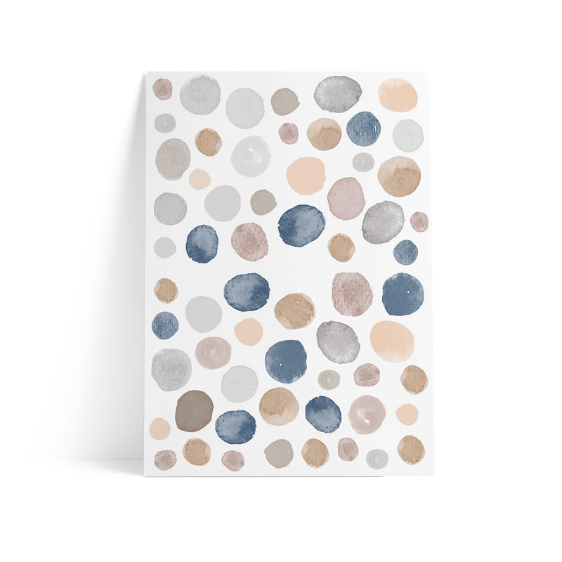 Watercolor Polka Dots Earthy