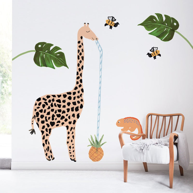 Giraffe & Leaves XXL