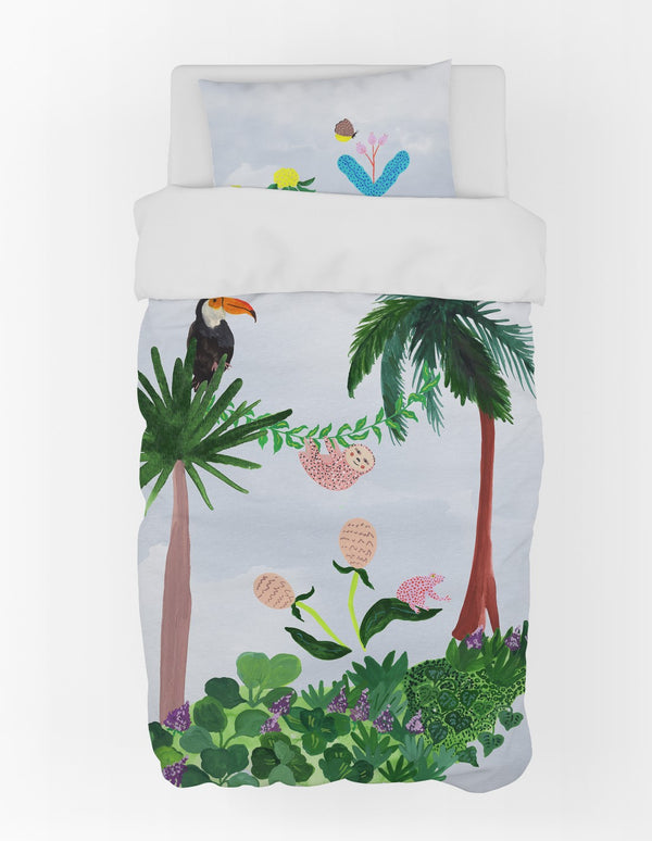 Blue Harmony Toucan Duvet Cover & Pillow Case