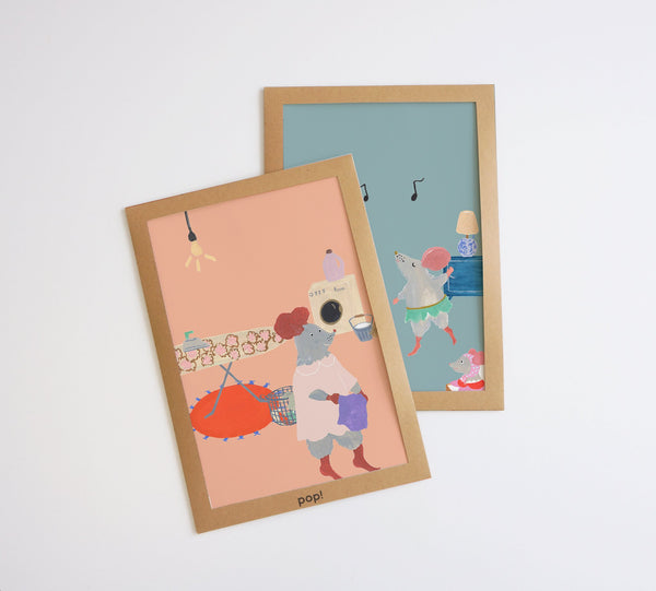 Mouse House Kids Playing Poster