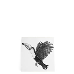 Monochrome Toucan XL Sticker