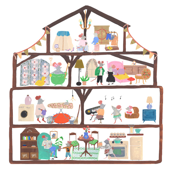Mouse House Couple Bedroom Sticker