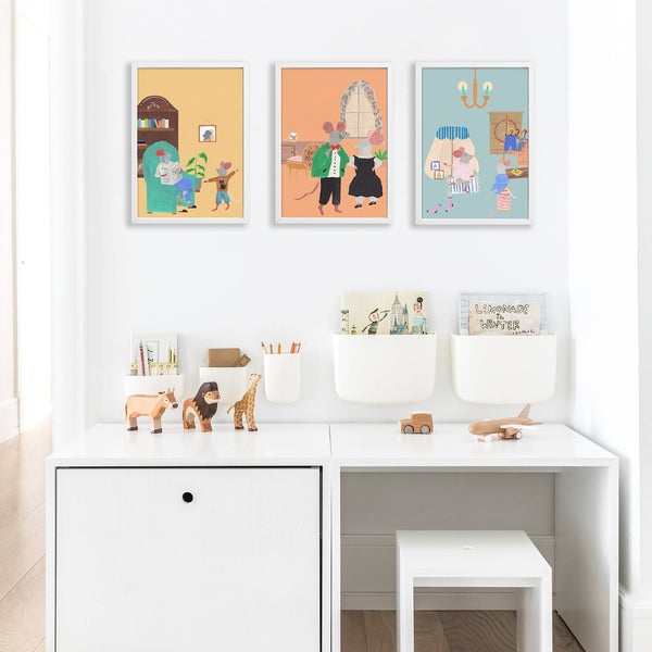 Mouse House Living Room Poster