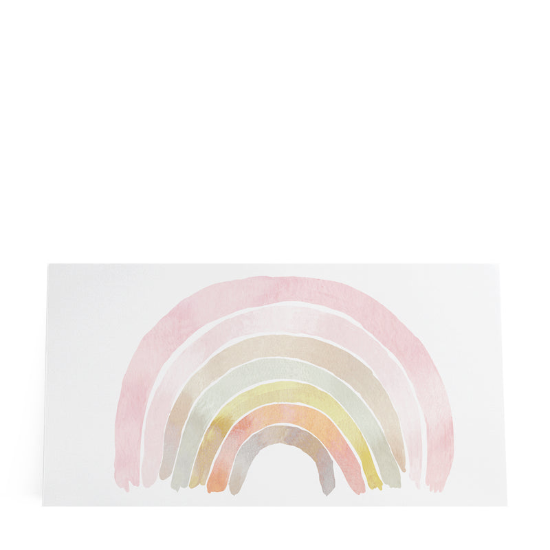Watercolor Rainbow Pink XL Sticker