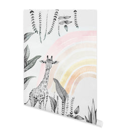 Monochrome Jungle with Rainbow