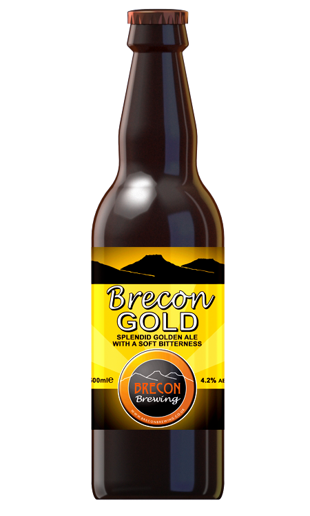 Brecon Gold, 4.2% ABV, Case of 12x 500ml bottles