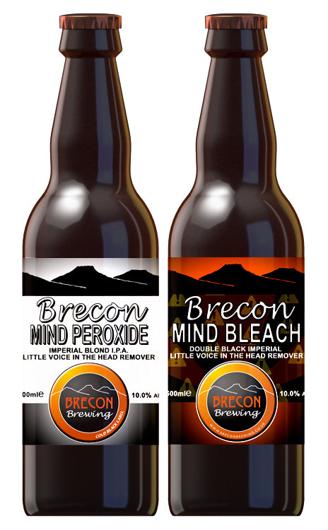 Mixed case of Mind Bleach and Mind Peroxide, 10.0% ABV, Case of 12x 500ml bottles