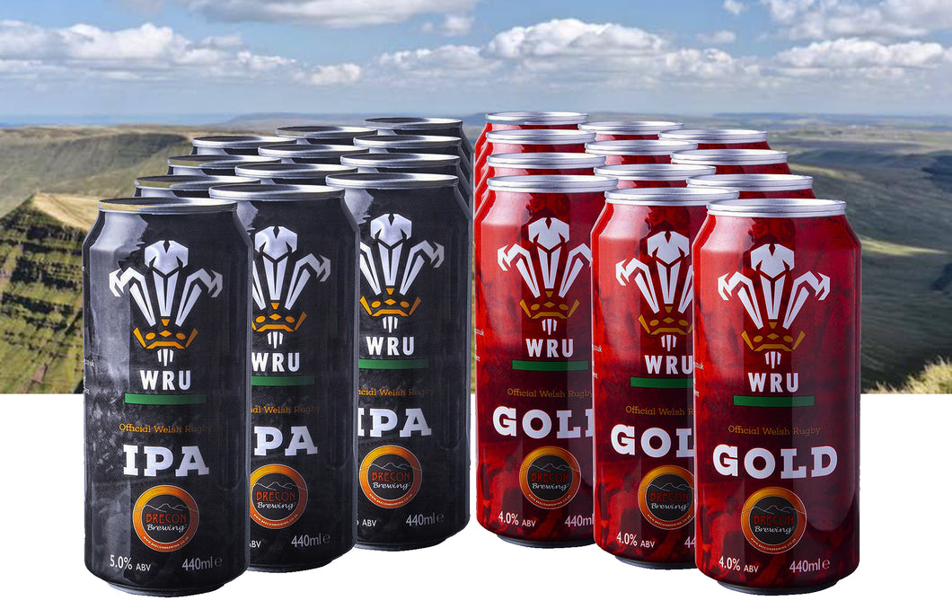 WRU Mixed, 4.5% ABV (24x 440ml case cans) ** FREE DELIVERY**