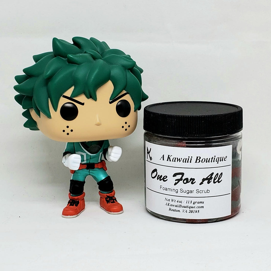 One For All Themed MHA Foaming Sugar Scrub