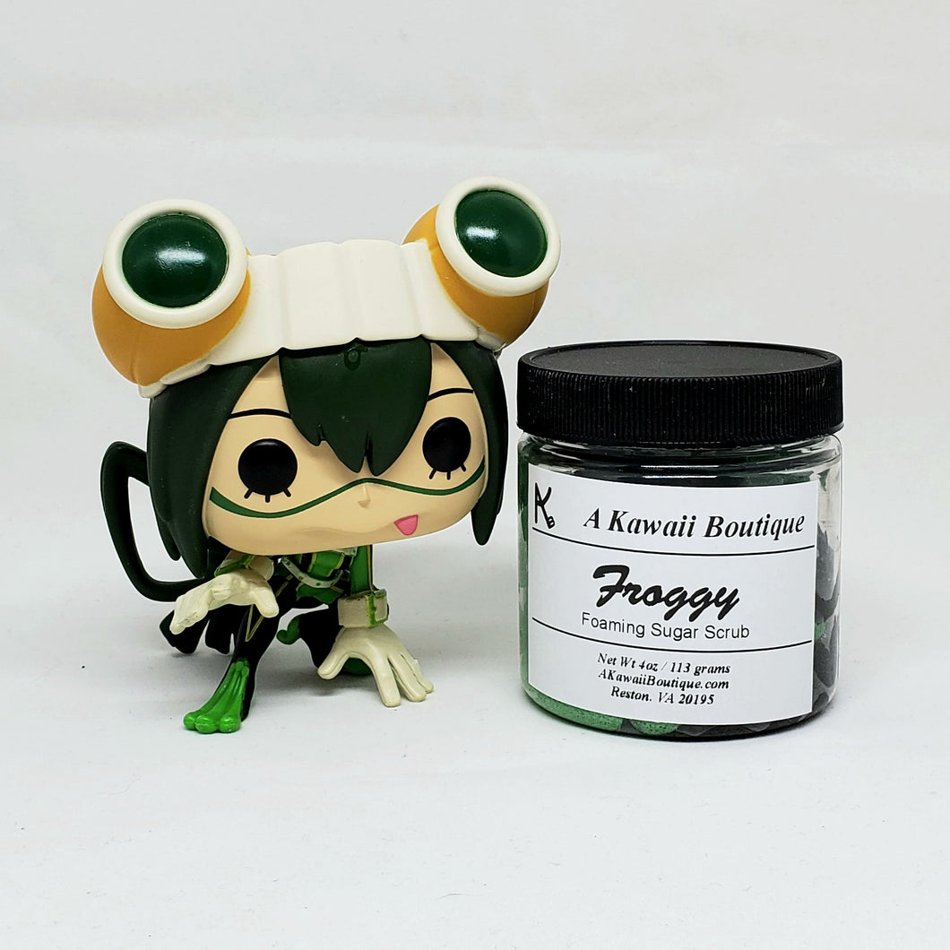 Froggy Themed MHA Foaming Sugar Scrub