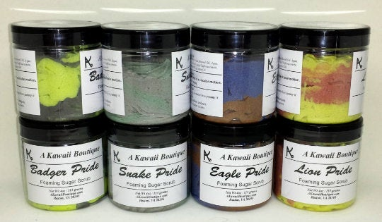 Wizard Themed Foaming Sugar Scrubs