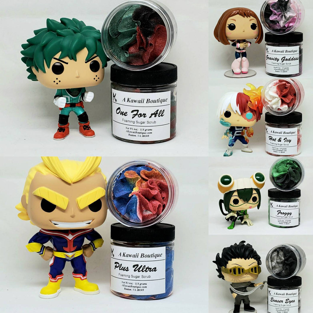 My Hero Themed Sugar Scrubs