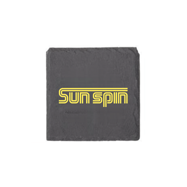 Sun Spin Black Slate Coaster (Single)