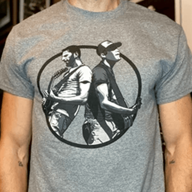 Original Rosenbaum & Danson Grey T-shirt (Crew Neck Men)