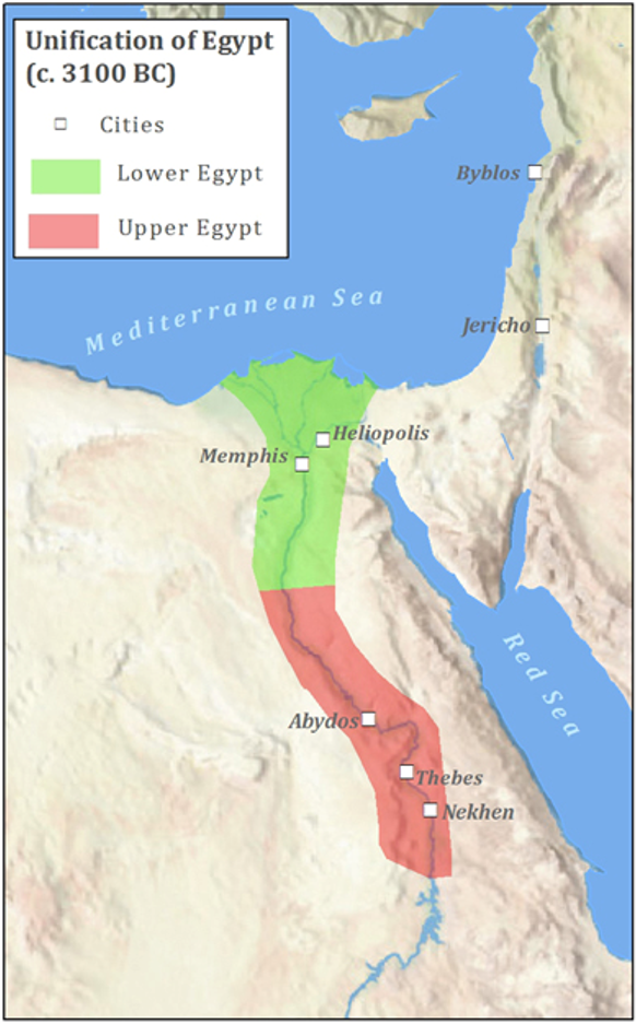 Lower and Upper Egypt