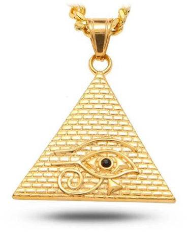 Golden Pyramid Necklace | Ancient Egypt