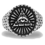 Ring Egypt Pyramid Illuminati (Steel) | Ancient Egypt