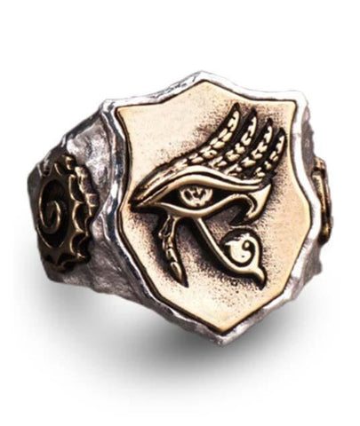 Egyptian Ring Coat of Arms of Horus (Silver) | Ancient Egypt