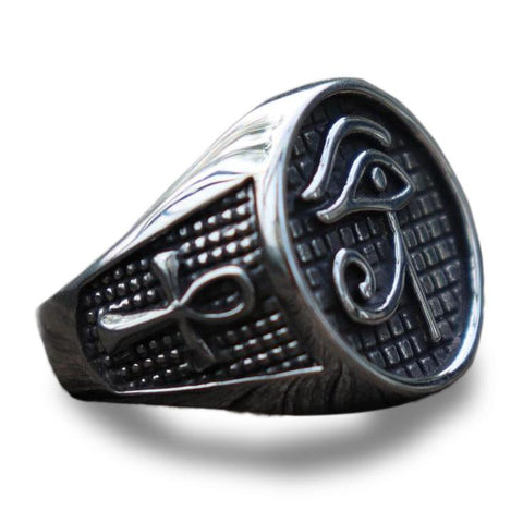 Egyptian Ring Eye of Ra (Steel) | Ancient Egypt