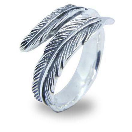 Egyptian Ring Ra Feather (Silver) | Ancient Egypt