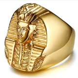 Egyptian Gold Ramses Ring (Steel)