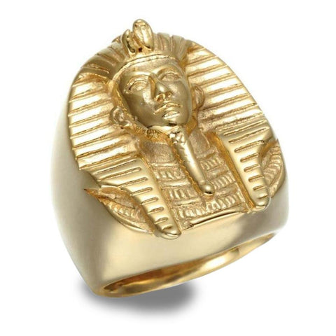 Golden Pharaoh Egyptian Ring (Steel) | Ancient Egypt