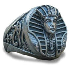 Iron Pharaoh Egyptian Ring (Steel) | Ancient Egypt