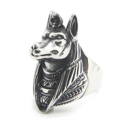 Egyptian Ring Anubis Pharaoh (Steel) | Ancient Egypt