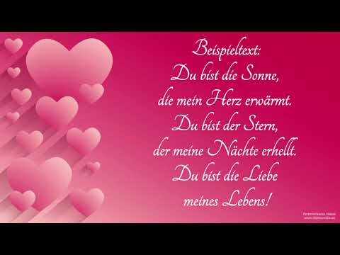Valentinsvideo - Ich liebe Dich (Lovely Piano)