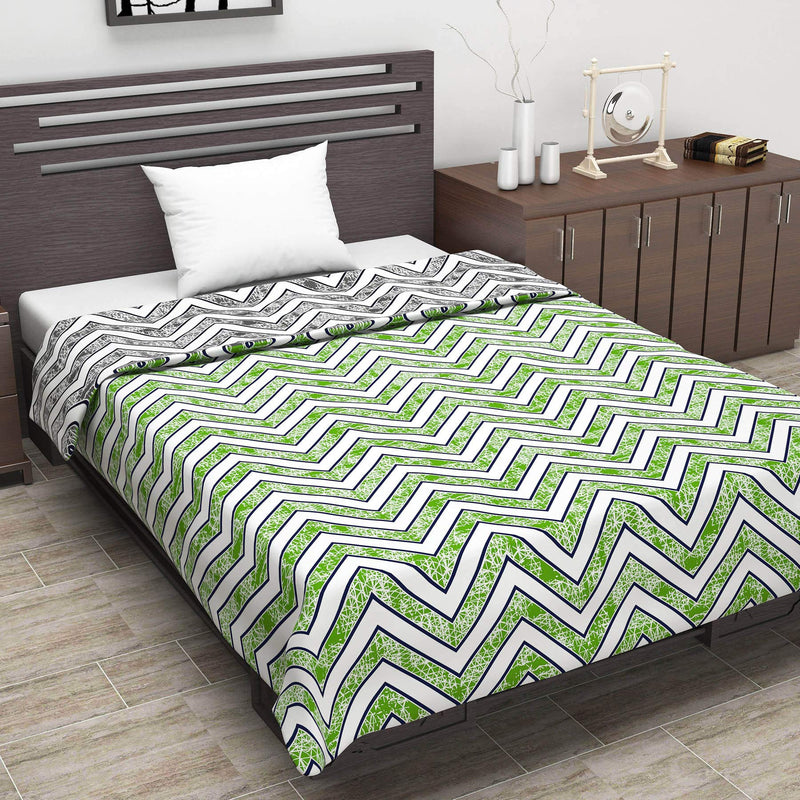 Divine Casa Natty Microfibre Reversible Design All-Weather Single Bed Dohar Quilt Blanket | NT1163
