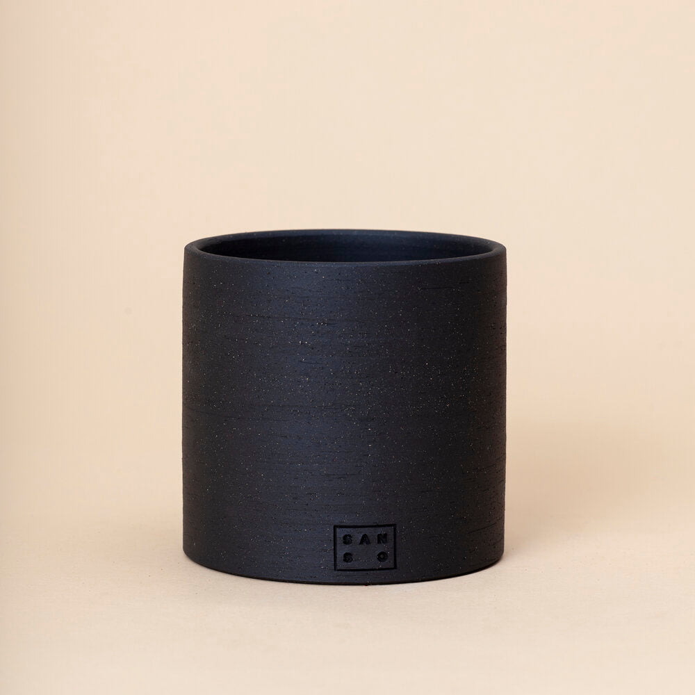 Medium Tall Planter, Black