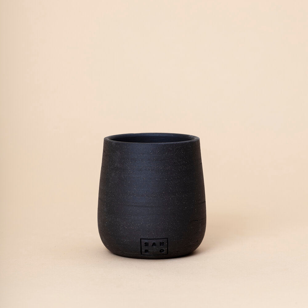 Small Tall Cup Planter, Black