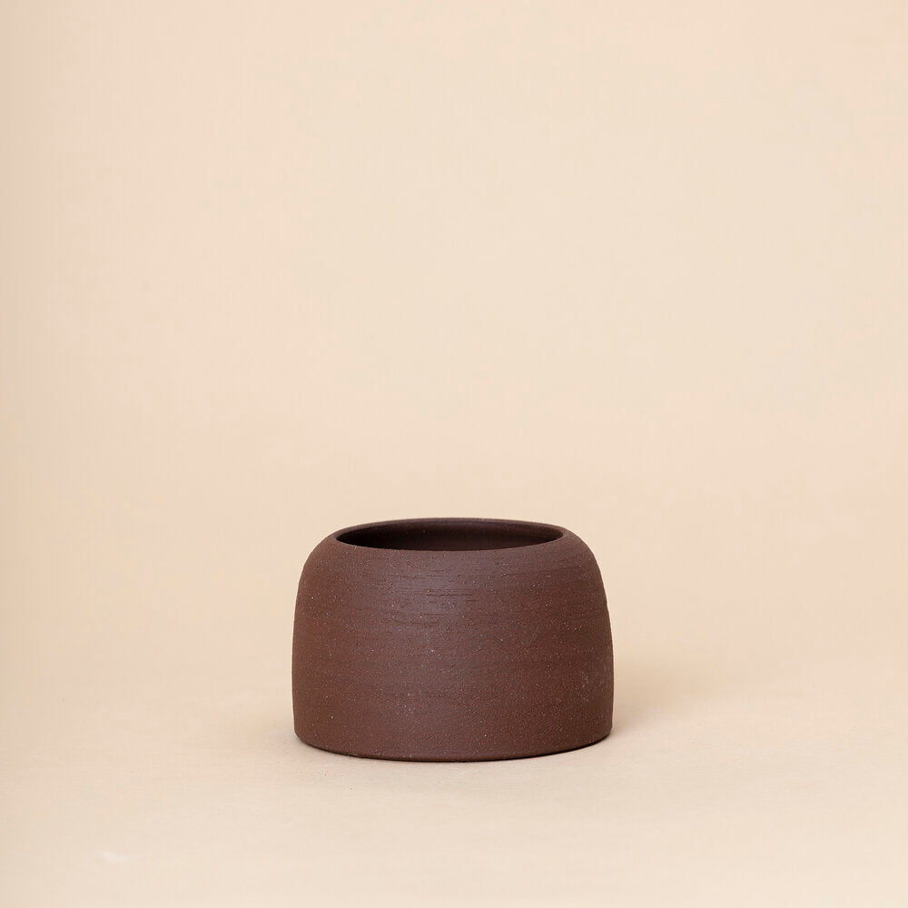 Small Dome Planter, Brown