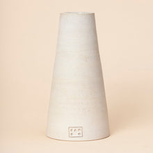 Load image into Gallery viewer, Large Cone Vase, Cream