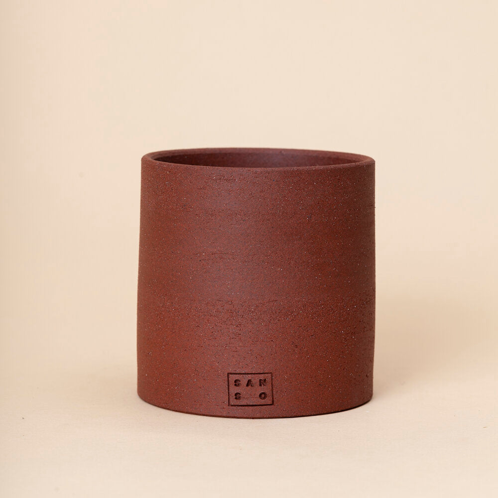 Medium Tall Planter, Red