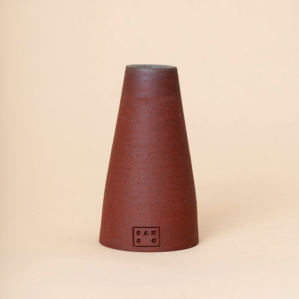 Small Cone Vase, Red