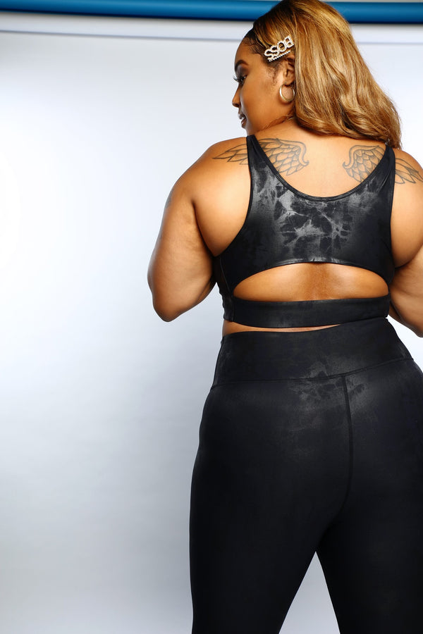 'KAIESHA' CUT OUT BACK SPORTS BRA