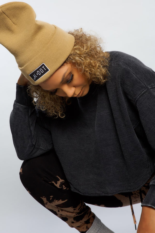 'THE OFFICIAL MDOT' BEANIE (khaki)