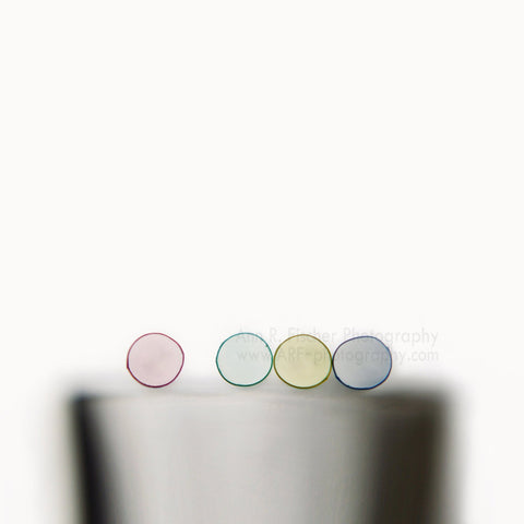 Abstract Colored Circles on White