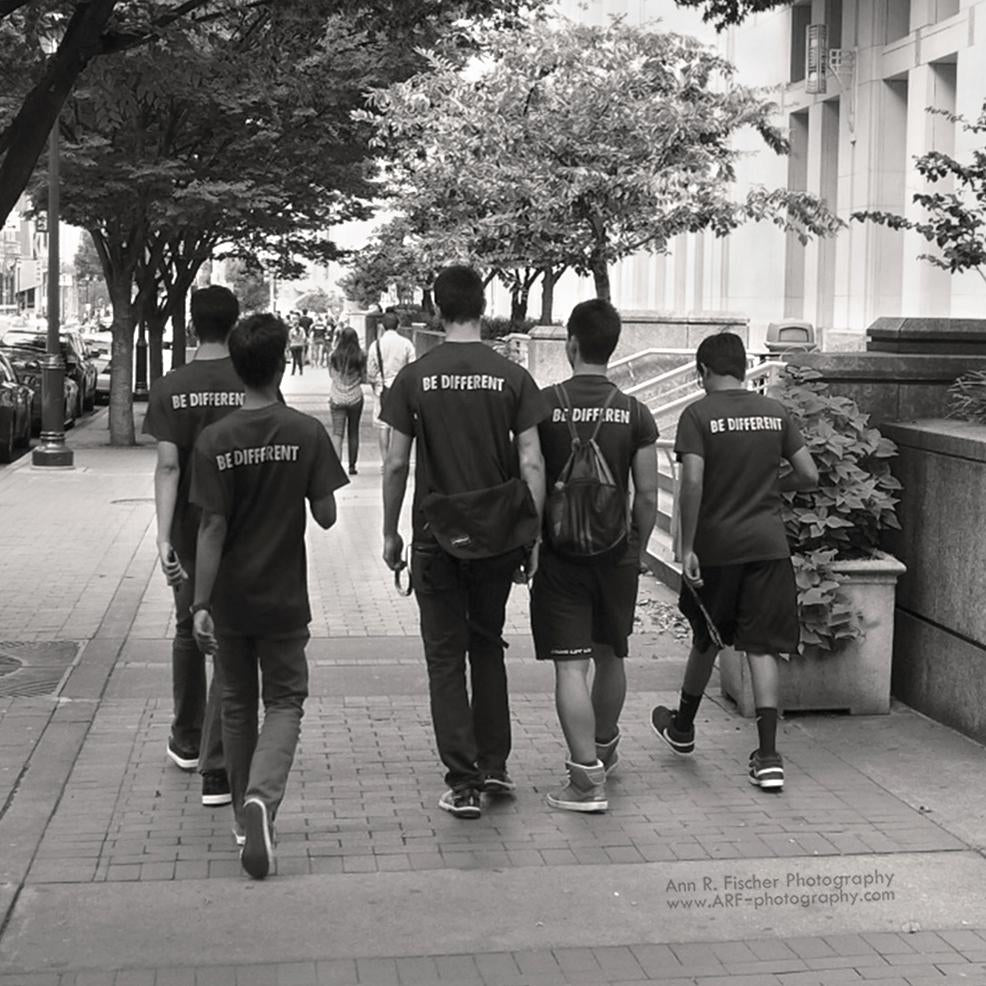 Being Independent Together, Street Photography, Boys Walking, ARF-photography.com