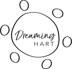 Dreaming Hart logo. Australian Indigenous contemporary artist Lisa Ennis. Proud Wakka Wakka and Kullillia woman living in Brisbane, Queensland. Creating beautiful art and jewellery pieces in resin and other mixed media.