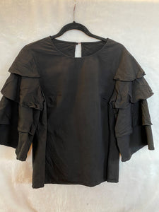 H&M ruffle sleeve blouse - Large