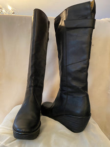 Fly London tall black boot - Size 10