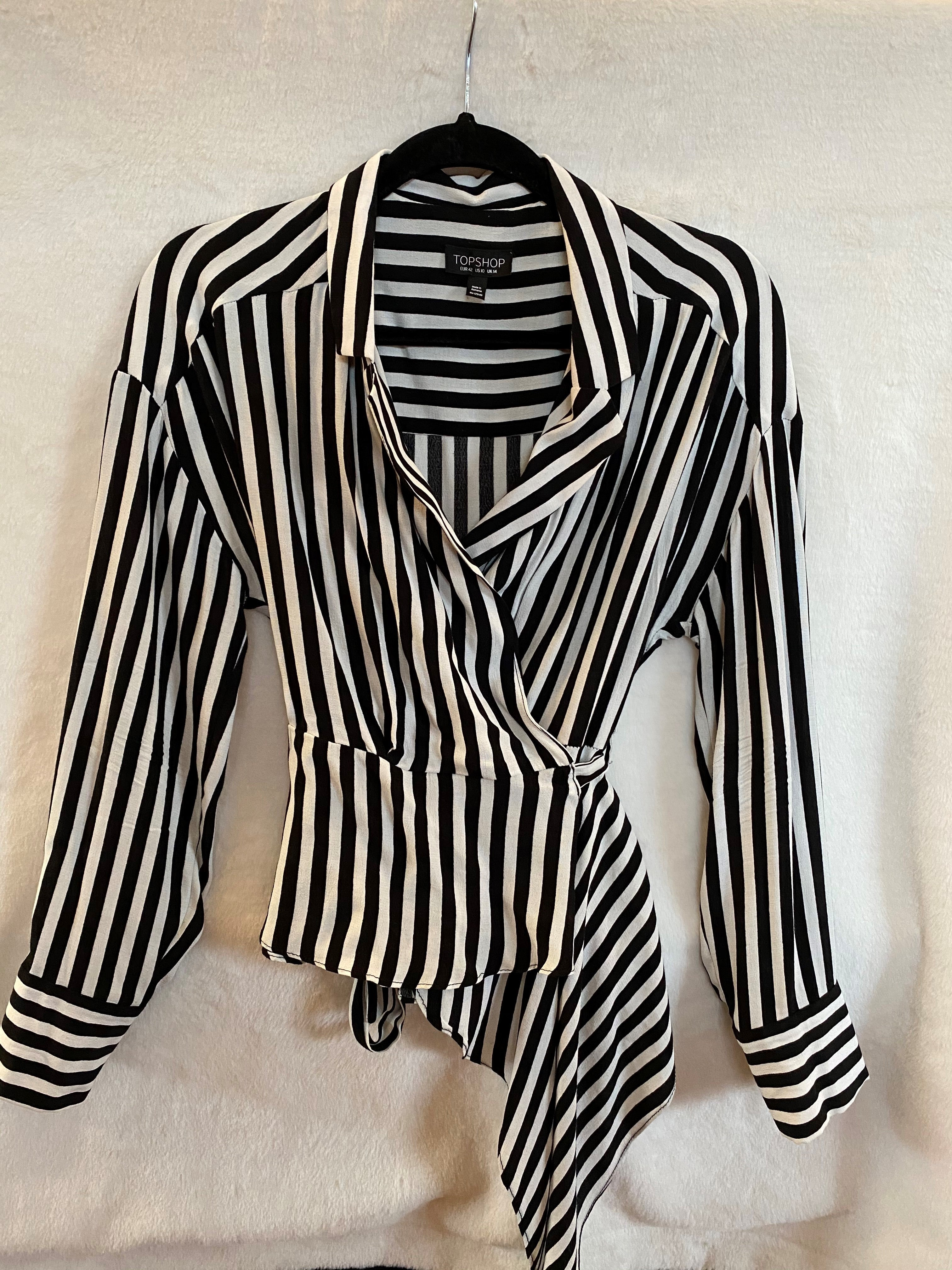TOPSHOP wrap-around blouse - Size 10