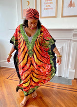 Load image into Gallery viewer, Jungle Print Caftan
