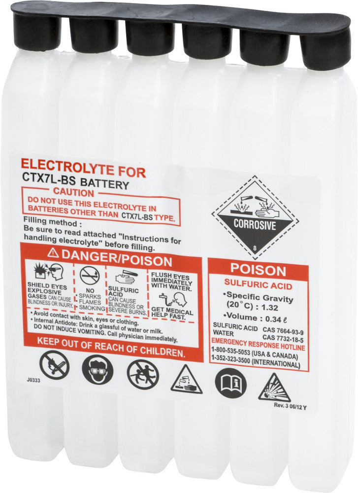 SEALED BATTERY ELECTROLYTE PACK 340CC